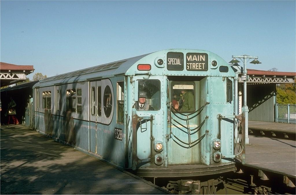(186k, 1024x674)<br><b>Country:</b> United States<br><b>City:</b> New York<br><b>System:</b> New York City Transit<br><b>Line:</b> IRT Woodlawn Line<br><b>Location:</b> Woodlawn<br><b>Route:</b> Fan Trip<br><b>Car:</b> R-33 World's Fair (St. Louis, 1963-64) 9328 <br><b>Photo by:</b> Joe Testagrose<br><b>Date:</b> 10/27/1974<br><b>Viewed (this week/total):</b> 0 / 5107