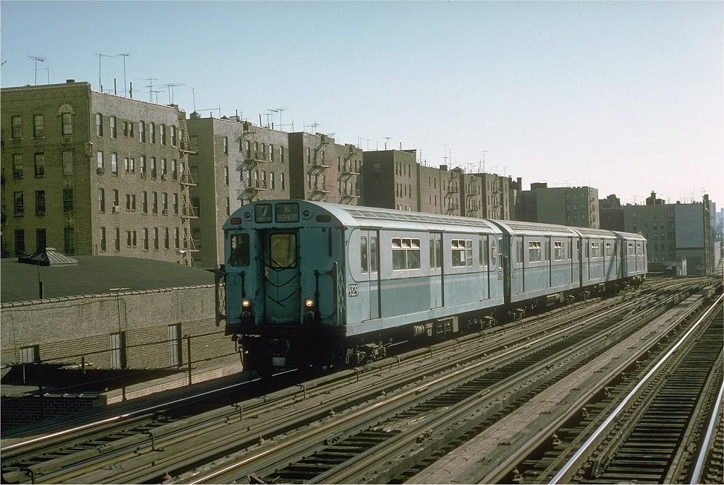 (233k, 1024x686)<br><b>Country:</b> United States<br><b>City:</b> New York<br><b>System:</b> New York City Transit<br><b>Line:</b> IRT Woodlawn Line<br><b>Location:</b> 161st Street-River Avenue (Yankee Stadium)<br><b>Route:</b> Fan Trip<br><b>Car:</b> R-33 World's Fair (St. Louis, 1963-64) 9329 <br><b>Photo by:</b> Joe Testagrose<br><b>Date:</b> 10/27/1974<br><b>Viewed (this week/total):</b> 0 / 3370