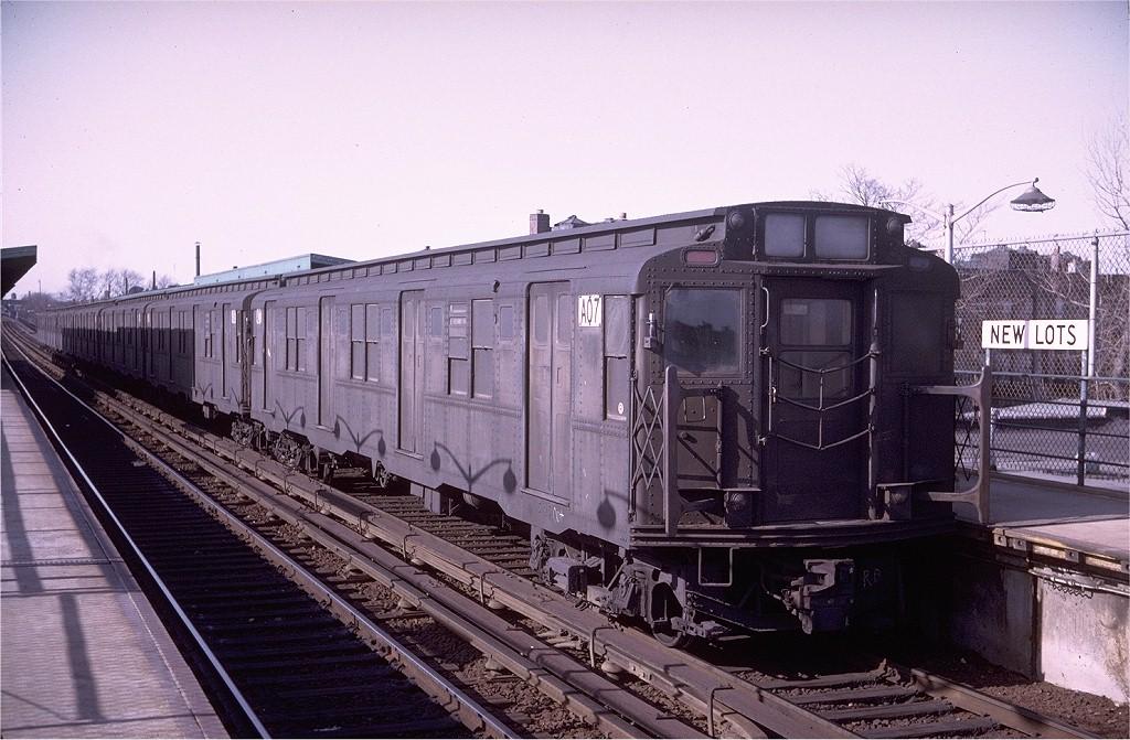 (211k, 1024x671)<br><b>Country:</b> United States<br><b>City:</b> New York<br><b>System:</b> New York City Transit<br><b>Line:</b> BMT Canarsie Line<br><b>Location:</b> New Lots Avenue<br><b>Route:</b> LL<br><b>Car:</b> R-9 (American Car & Foundry, 1940) A07 (ex-1753)<br><b>Photo by:</b> Doug Grotjahn<br><b>Collection of:</b> Joe Testagrose<br><b>Date:</b> 4/13/1969<br><b>Viewed (this week/total):</b> 1 / 3689