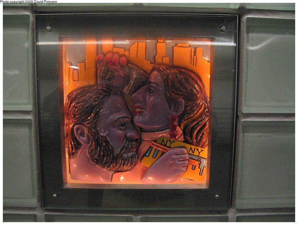 (176k, 1044x788)<br><b>Country:</b> United States<br><b>City:</b> New York<br><b>System:</b> New York City Transit<br><b>Line:</b> IRT West Side Line<br><b>Location:</b> Times Square/42nd Street<br><b>Photo by:</b> David Pirmann<br><b>Date:</b> 9/6/2005<br><b>Artwork:</b> <i>Times Square Times: 35 Times</i>, Toby Buonagurio, 2005<br><b>Viewed (this week/total):</b> 0 / 2602