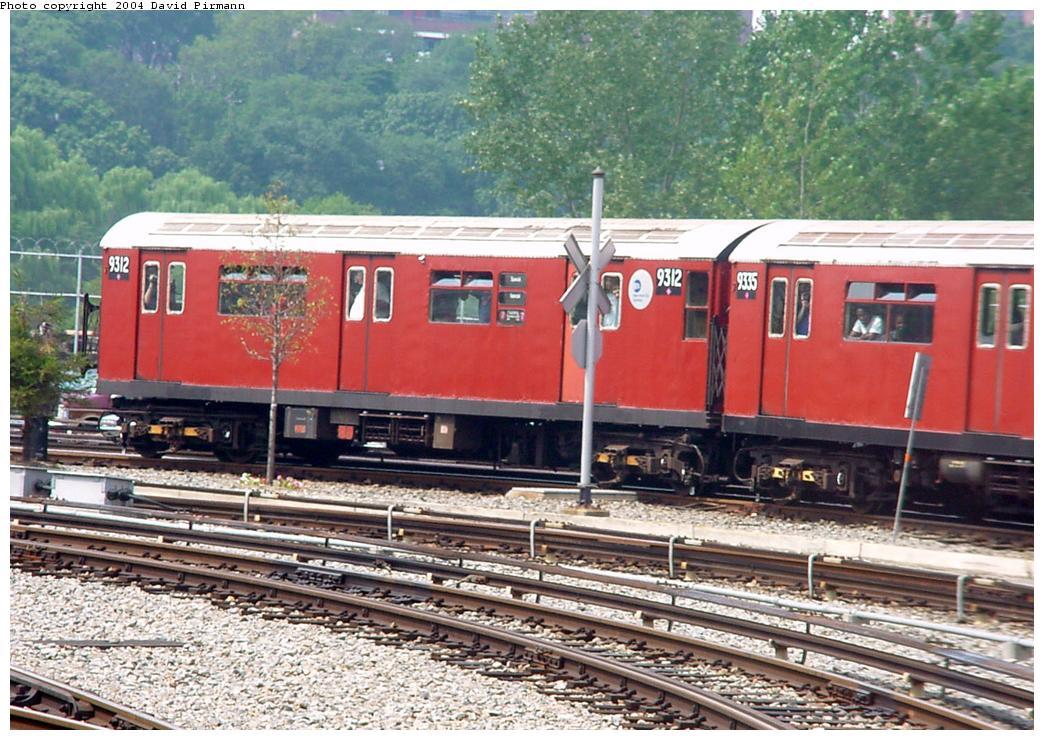 (165k, 1044x740)<br><b>Country:</b> United States<br><b>City:</b> New York<br><b>System:</b> New York City Transit<br><b>Location:</b> Jamaica Yard/Shops<br><b>Route:</b> Fan Trip<br><b>Car:</b> R-33 World's Fair (St. Louis, 1963-64) 9312 <br><b>Photo by:</b> David Pirmann<br><b>Date:</b> 8/27/2000<br><b>Viewed (this week/total):</b> 0 / 5960