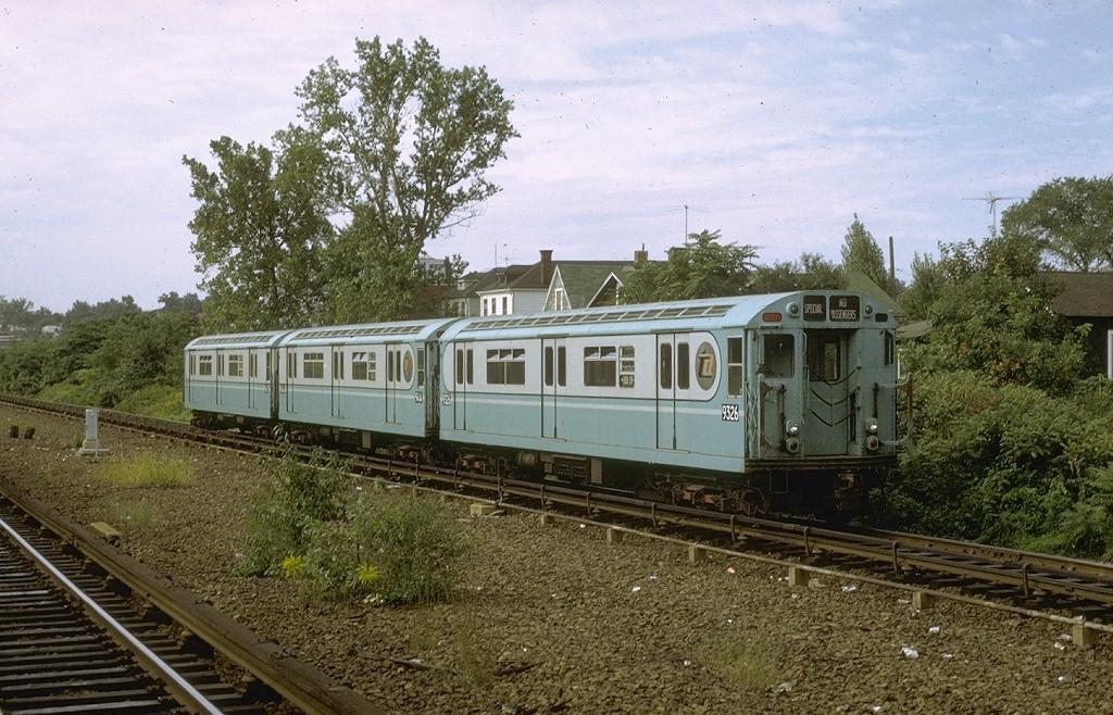 (242k, 1024x658)<br><b>Country:</b> United States<br><b>City:</b> New York<br><b>System:</b> New York City Transit<br><b>Line:</b> IRT Dyre Ave. Line<br><b>Location:</b> Gun Hill Road<br><b>Route:</b> Fan Trip<br><b>Car:</b> R-33 World's Fair (St. Louis, 1963-64) 9326 <br><b>Photo by:</b> Joe Testagrose<br><b>Date:</b> 9/21/1971<br><b>Viewed (this week/total):</b> 0 / 7216