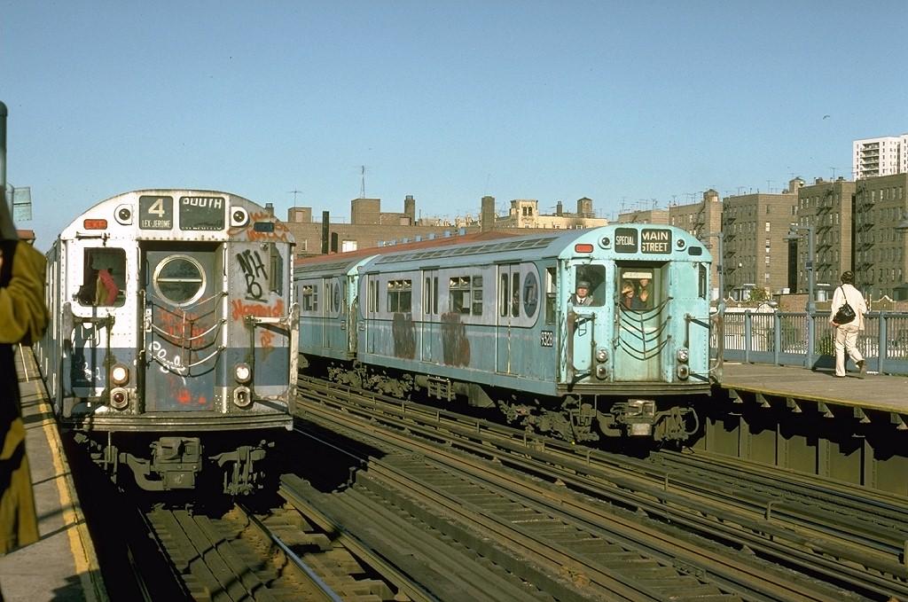 (217k, 1024x679)<br><b>Country:</b> United States<br><b>City:</b> New York<br><b>System:</b> New York City Transit<br><b>Line:</b> IRT Woodlawn Line<br><b>Location:</b> 161st Street-River Avenue (Yankee Stadium)<br><b>Route:</b> Fan Trip<br><b>Car:</b> R-33 World's Fair (St. Louis, 1963-64) 9328 <br><b>Photo by:</b> Joe Testagrose<br><b>Date:</b> 10/27/1974<br><b>Viewed (this week/total):</b> 0 / 6568