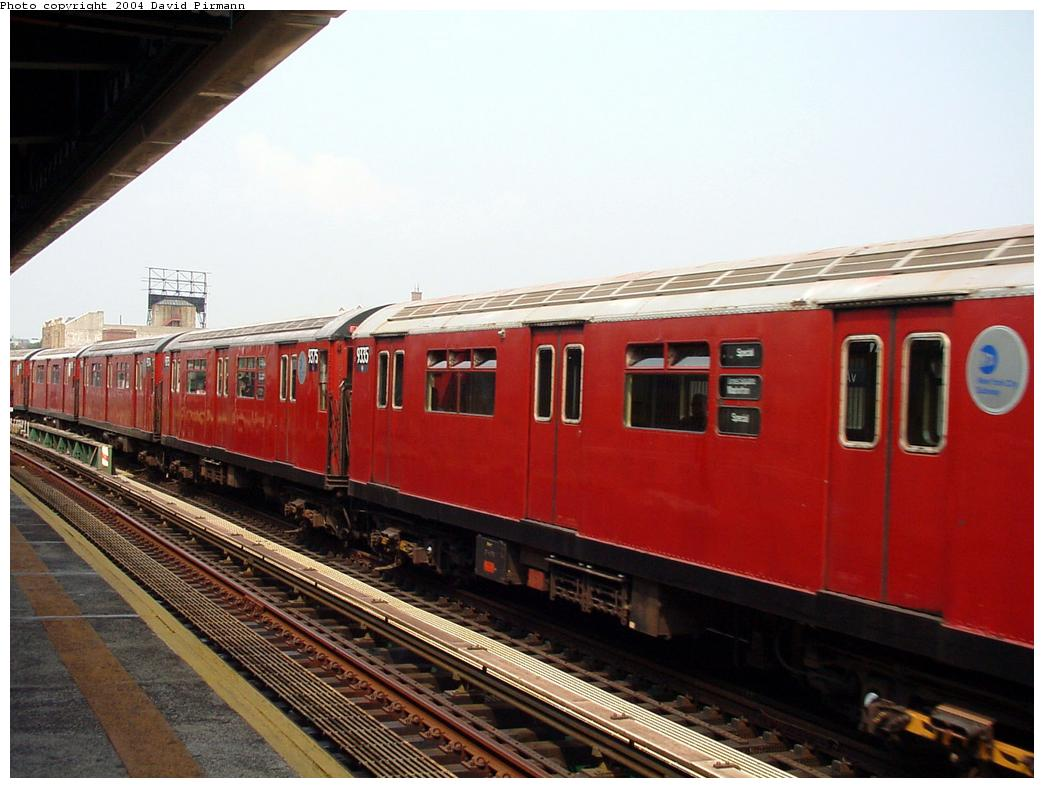 (113k, 1044x788)<br><b>Country:</b> United States<br><b>City:</b> New York<br><b>System:</b> New York City Transit<br><b>Line:</b> BMT Culver Line<br><b>Location:</b> Ditmas Avenue<br><b>Route:</b> Fan Trip<br><b>Car:</b> R-33 World's Fair (St. Louis, 1963-64) 9335 <br><b>Photo by:</b> David Pirmann<br><b>Date:</b> 8/27/2000<br><b>Viewed (this week/total):</b> 0 / 4434