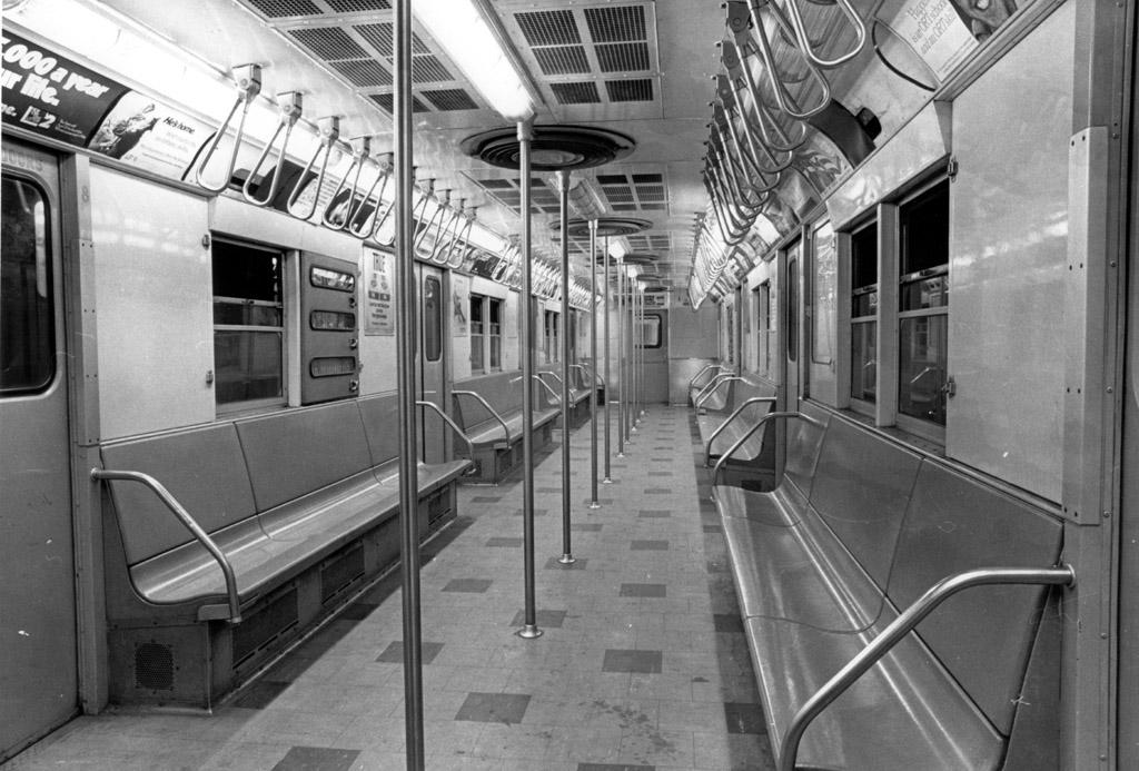 (199k, 1024x693)<br><b>Country:</b> United States<br><b>City:</b> New York<br><b>System:</b> New York City Transit<br><b>Car:</b> R-27 (St. Louis, 1960) Interior <br><b>Photo by:</b> NYCTA File Photo<br><b>Collection of:</b> Charles Fiori<br><b>Viewed (this week/total):</b> 6 / 10889