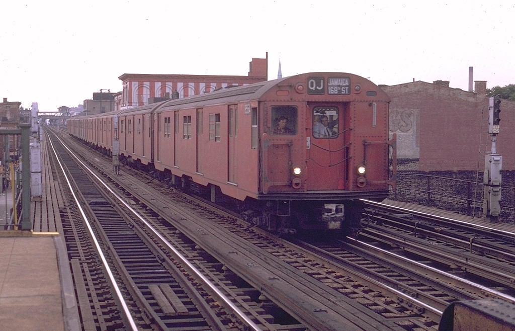 (190k, 1024x658)<br><b>Country:</b> United States<br><b>City:</b> New York<br><b>System:</b> New York City Transit<br><b>Line:</b> BMT Nassau Street-Jamaica Line<br><b>Location:</b> Kosciuszko Street<br><b>Route:</b> QJ<br><b>Car:</b> R-30 (St. Louis, 1961) 8554 <br><b>Photo by:</b> Joe Testagrose<br><b>Date:</b> 6/9/1970<br><b>Viewed (this week/total):</b> 0 / 5156