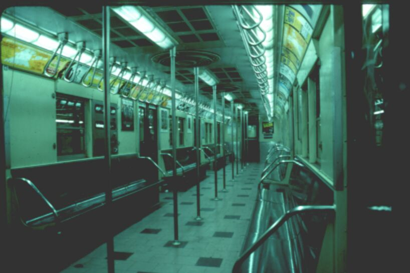 (54k, 818x546)<br><b>Country:</b> United States<br><b>City:</b> New York<br><b>System:</b> New York City Transit<br><b>Car:</b> R-30 (St. Louis, 1961) 8569 <br><b>Photo by:</b> Glenn L. Rowe<br><b>Date:</b> 1993<br><b>Viewed (this week/total):</b> 5 / 12608