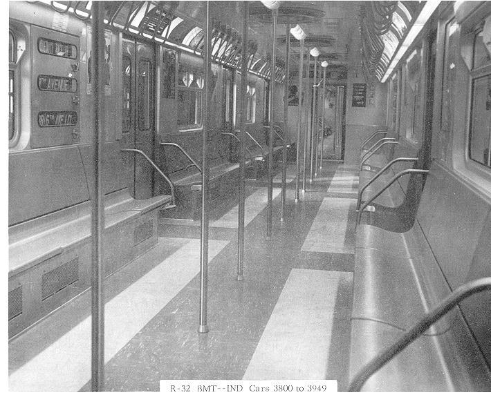 (85k, 710x575)<br><b>Country:</b> United States<br><b>City:</b> New York<br><b>System:</b> New York City Transit<br><b>Car:</b> R-32 (Budd, 1964) Interior <br><b>Collection of:</b> Sanford Gardner<br><b>Notes:</b> Modified interior on cars 3800-3949<br><b>Viewed (this week/total):</b> 7 / 16913