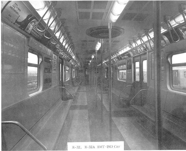 (82k, 710x575)<br><b>Country:</b> United States<br><b>City:</b> New York<br><b>System:</b> New York City Transit<br><b>Car:</b> R-32 (Budd, 1964) Interior <br><b>Collection of:</b> Sanford Gardner<br><b>Viewed (this week/total):</b> 6 / 15260