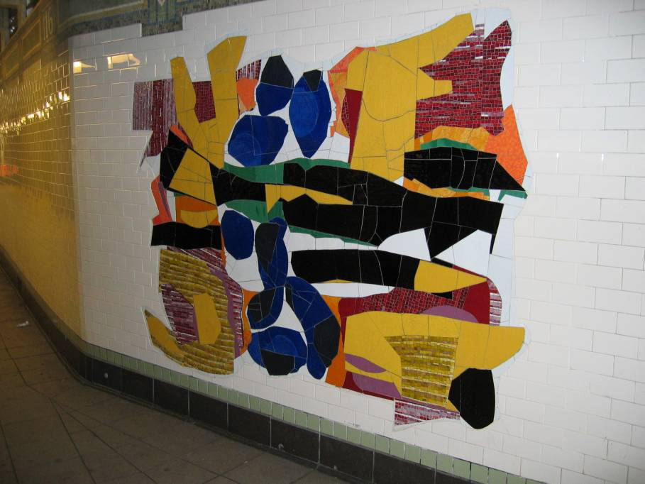 (77k, 909x682)<br><b>Country:</b> United States<br><b>City:</b> New York<br><b>System:</b> New York City Transit<br><b>Line:</b> IRT East Side Line<br><b>Location:</b> 116th Street<br><b>Photo by:</b> Robbie Rosenfeld<br><b>Date:</b> 7/15/2005<br><b>Artwork:</b> <i>In Everything There is a Season</i>, Robert Blackburn, 2005<br><b>Viewed (this week/total):</b> 1 / 4280