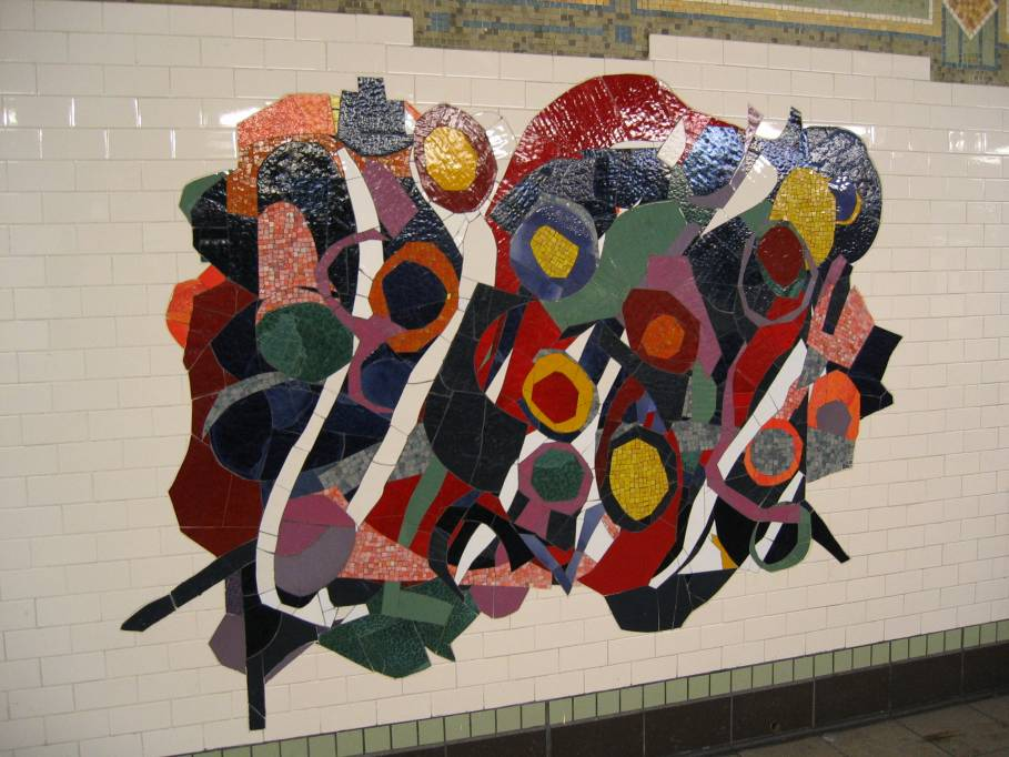 (95k, 909x682)<br><b>Country:</b> United States<br><b>City:</b> New York<br><b>System:</b> New York City Transit<br><b>Line:</b> IRT East Side Line<br><b>Location:</b> 116th Street<br><b>Photo by:</b> Robbie Rosenfeld<br><b>Date:</b> 7/15/2005<br><b>Artwork:</b> <i>In Everything There is a Season</i>, Robert Blackburn, 2005<br><b>Viewed (this week/total):</b> 0 / 4283