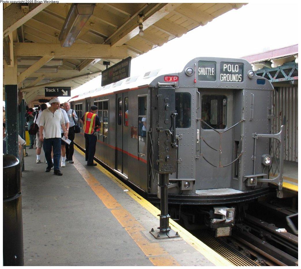 (179k, 1044x933)<br><b>Country:</b> United States<br><b>City:</b> New York<br><b>System:</b> New York City Transit<br><b>Line:</b> IRT West Side Line<br><b>Location:</b> 242nd Street/Van Cortlandt Park<br><b>Route:</b> Fan Trip<br><b>Car:</b> R-12 (American Car & Foundry, 1948) 5760 <br><b>Photo by:</b> Brian Weinberg<br><b>Date:</b> 6/29/2003<br><b>Viewed (this week/total):</b> 0 / 5020