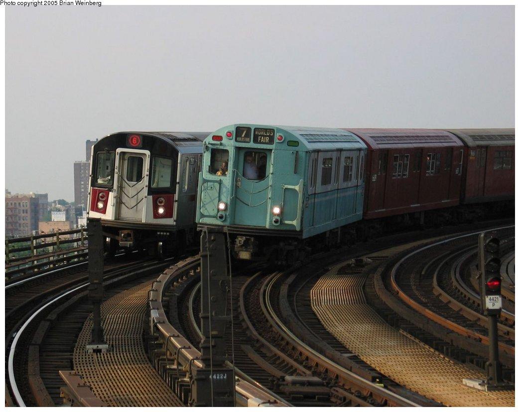 (142k, 1044x828)<br><b>Country:</b> United States<br><b>City:</b> New York<br><b>System:</b> New York City Transit<br><b>Line:</b> IRT Pelham Line<br><b>Location:</b> Whitlock Avenue<br><b>Route:</b> Fan Trip<br><b>Car:</b> R-33 World's Fair (St. Louis, 1963-64) 9306 <br><b>Photo by:</b> Brian Weinberg<br><b>Date:</b> 6/29/2003<br><b>Viewed (this week/total):</b> 2 / 4072