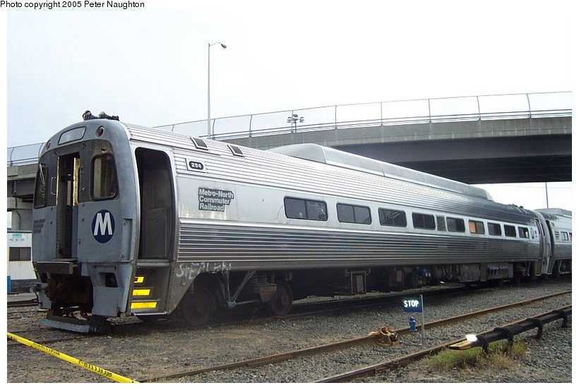 (98k, 820x553)<br><b>Country:</b> United States<br><b>System:</b> Metro-North Railroad (or Amtrak or Predecessor RR)<br><b>Line:</b> Metro North-Hudson Line<br><b>Location:</b> MNRR Croton-Harmon Shops/Yard<br><b>Car:</b> MNRR/CDOT Budd SPV2000 294 <br><b>Photo by:</b> Peter Naughton<br><b>Date:</b> 10/16/2004<br><b>Notes:</b> Budd SPV-2000's - used on shuttles until early 90's.<br><b>Viewed (this week/total):</b> 2 / 4801