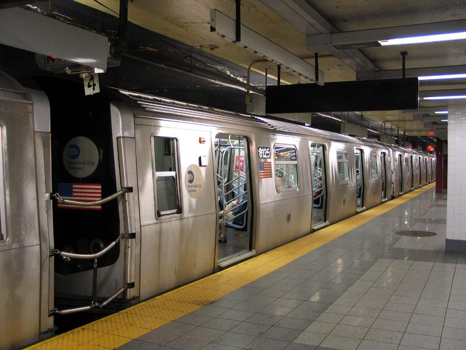 (105k, 960x720)<br><b>Country:</b> United States<br><b>City:</b> New York<br><b>System:</b> New York City Transit<br><b>Line:</b> BMT Canarsie Line<br><b>Location:</b> 8th Avenue<br><b>Route:</b> L<br><b>Car:</b> R-143 (Kawasaki, 2001-2002) 8125 <br><b>Photo by:</b> Michael Pompili<br><b>Date:</b> 4/18/2004<br><b>Viewed (this week/total):</b> 0 / 4235