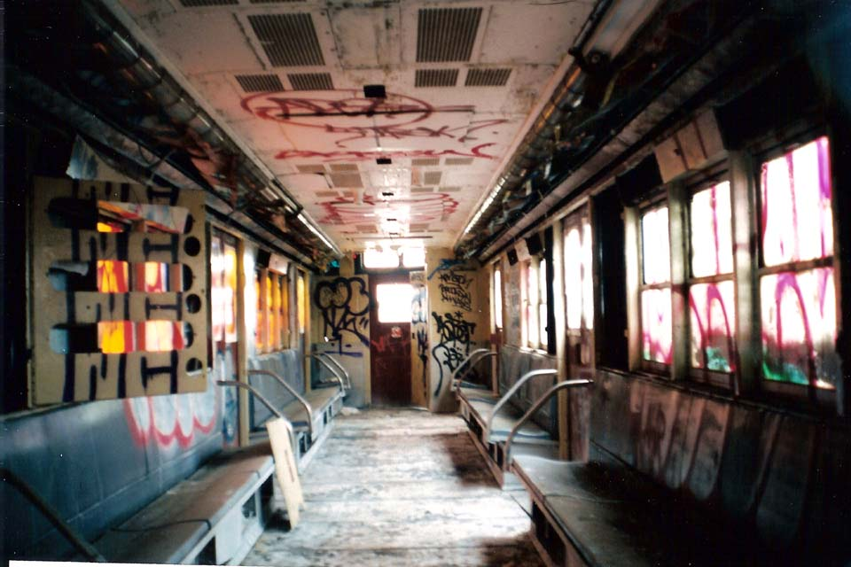 (95k, 960x640)<br><b>Country:</b> United States<br><b>City:</b> New York<br><b>System:</b> New York City Transit<br><b>Line:</b> South Brooklyn Railway<br><b>Location:</b> SBK Yard (2nd Ave at 38th St.) (SBK)<br><b>Car:</b> R-21 (St. Louis, 1956-57) 9306 (ex-7261)<br><b>Photo by:</b> Michael Pompili<br><b>Date:</b> 6/2003<br><b>Viewed (this week/total):</b> 3 / 6843