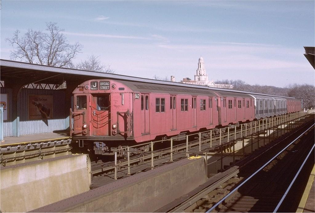 (197k, 1024x693)<br><b>Country:</b> United States<br><b>City:</b> New York<br><b>System:</b> New York City Transit<br><b>Line:</b> BMT Nassau Street-Jamaica Line<br><b>Location:</b> Cypress Hills<br><b>Route:</b> J<br><b>Car:</b> R-30 (St. Louis, 1961) 8412 <br><b>Photo by:</b> Joe Testagrose<br><b>Date:</b> 1/21/1973<br><b>Viewed (this week/total):</b> 0 / 3538