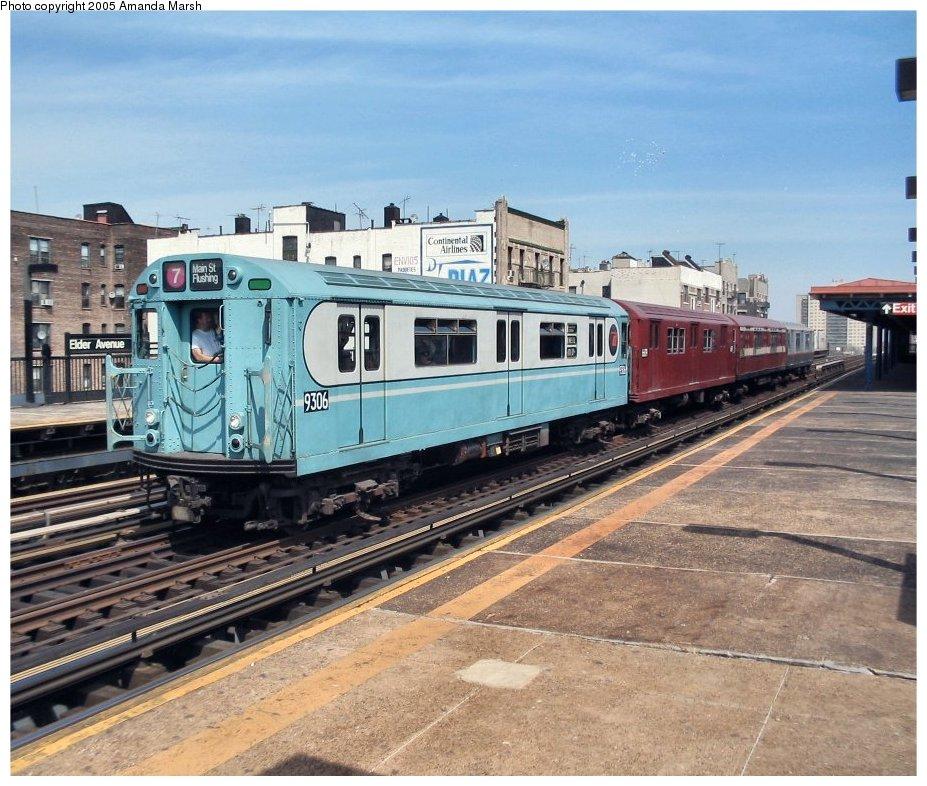 (166k, 927x786)<br><b>Country:</b> United States<br><b>City:</b> New York<br><b>System:</b> New York City Transit<br><b>Line:</b> IRT Pelham Line<br><b>Location:</b> Elder Avenue<br><b>Route:</b> Fan Trip<br><b>Car:</b> R-33 World's Fair (St. Louis, 1963-64) 9306 <br><b>Photo by:</b> Amanda Marsh<br><b>Date:</b> 4/17/2004<br><b>Viewed (this week/total):</b> 0 / 3583