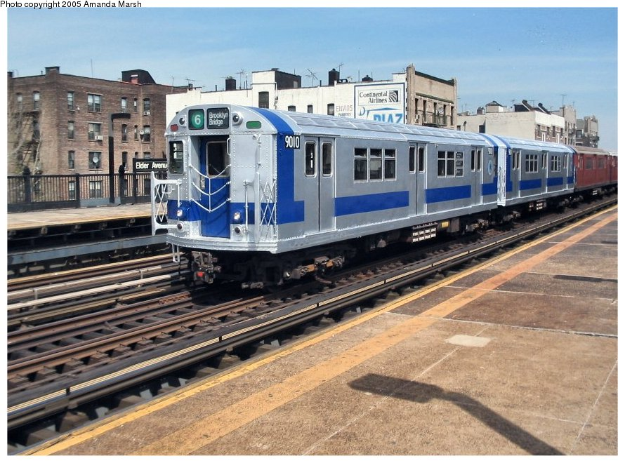 (151k, 890x660)<br><b>Country:</b> United States<br><b>City:</b> New York<br><b>System:</b> New York City Transit<br><b>Line:</b> IRT Pelham Line<br><b>Location:</b> Elder Avenue<br><b>Route:</b> Fan Trip<br><b>Car:</b> R-33 Main Line (St. Louis, 1962-63) 9010 <br><b>Photo by:</b> Amanda Marsh<br><b>Date:</b> 4/17/2004<br><b>Viewed (this week/total):</b> 0 / 3834