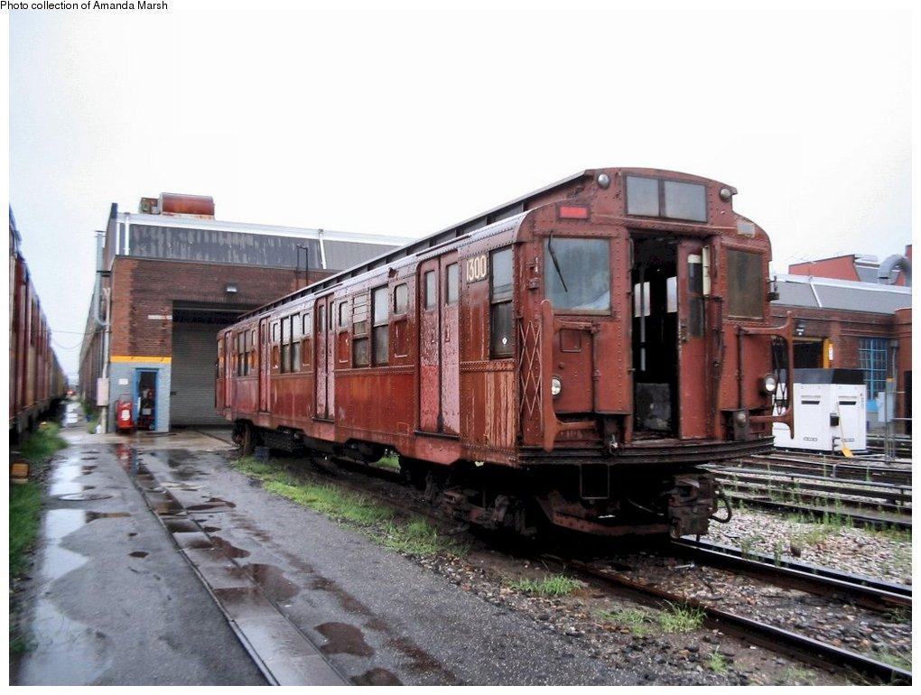 (148k, 1020x770)<br><b>Country:</b> United States<br><b>City:</b> New York<br><b>System:</b> New York City Transit<br><b>Location:</b> 207th Street Yard<br><b>Car:</b> R-6-1 (Pressed Steel, 1936) 1300 <br><b>Collection of:</b> Amanda Marsh<br><b>Date:</b> 7/18/2004<br><b>Viewed (this week/total):</b> 0 / 3288