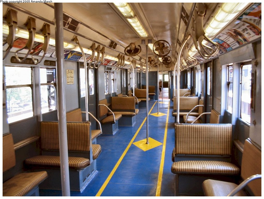 (174k, 1020x770)<br><b>Country:</b> United States<br><b>City:</b> New York<br><b>System:</b> New York City Transit<br><b>Line:</b> BMT Brighton Line<br><b>Location:</b> Brighton Beach<br><b>Route:</b> Fan Trip<br><b>Car:</b> R-7A (Pullman, 1938) 1575 <br><b>Photo by:</b> Amanda Marsh<br><b>Date:</b> 5/23/2004<br><b>Viewed (this week/total):</b> 6 / 4879