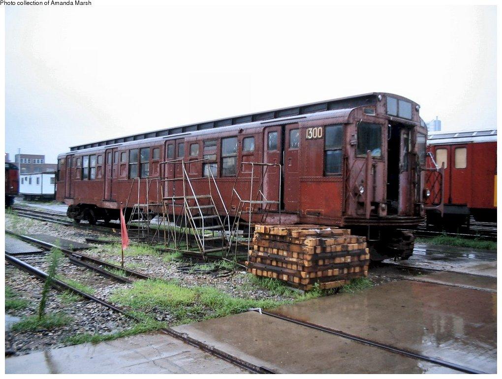 (156k, 1020x770)<br><b>Country:</b> United States<br><b>City:</b> New York<br><b>System:</b> New York City Transit<br><b>Location:</b> 207th Street Yard<br><b>Car:</b> R-6-1 (Pressed Steel, 1936) 1300 <br><b>Collection of:</b> Amanda Marsh<br><b>Date:</b> 7/18/2004<br><b>Viewed (this week/total):</b> 0 / 3238