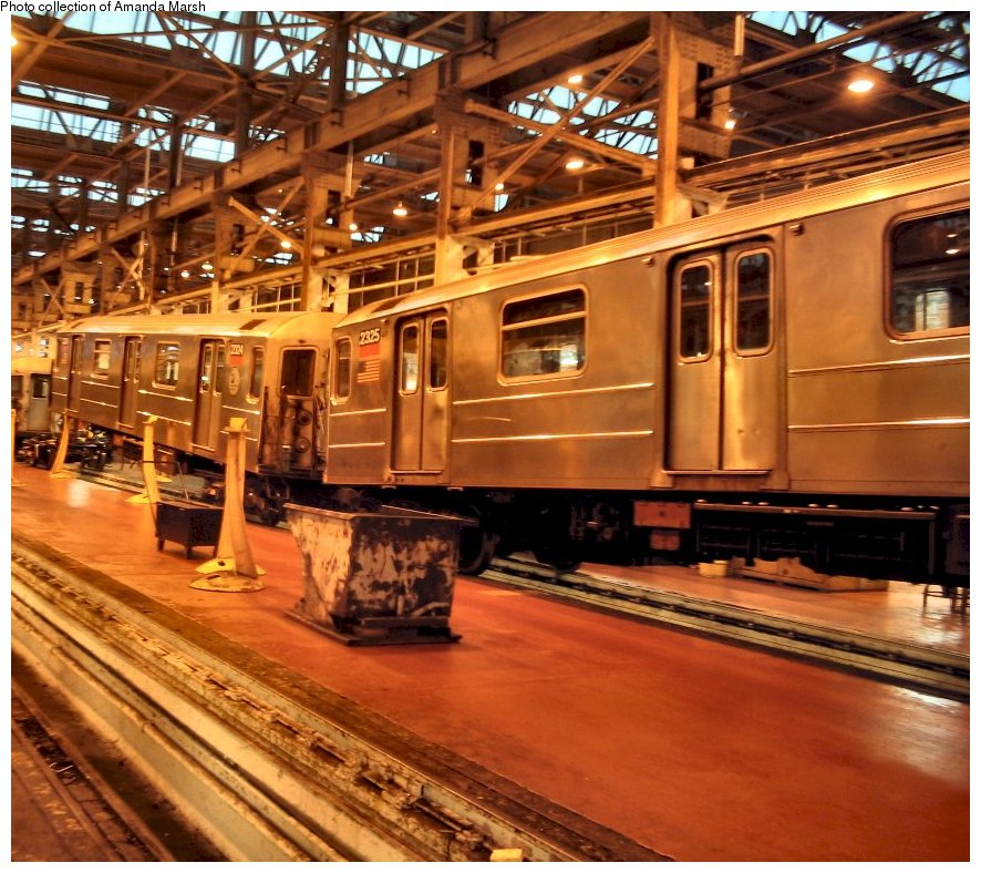 (172k, 886x788)<br><b>Country:</b> United States<br><b>City:</b> New York<br><b>System:</b> New York City Transit<br><b>Location:</b> 207th Street Shop<br><b>Car:</b> R-62A (Bombardier, 1984-1987) 2324 <br><b>Collection of:</b> Amanda Marsh<br><b>Date:</b> 7/18/2004<br><b>Viewed (this week/total):</b> 3 / 3132