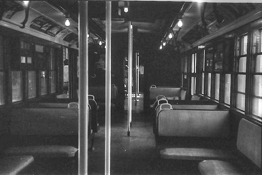 (251k, 864x576)<br><b>Country:</b> United States<br><b>City:</b> New York<br><b>System:</b> New York City Transit<br><b>Route:</b> Fan Trip<br><b>Car:</b> BMT D-Type Triplex Interior <br><b>Photo by:</b> Stuart Gitlow<br><b>Date:</b> 9/11/1977<br><b>Viewed (this week/total):</b> 2 / 2476