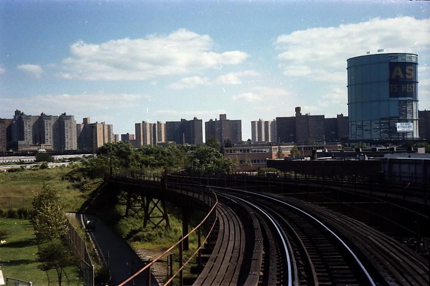(130k, 846x562)<br><b>Country:</b> United States<br><b>City:</b> New York<br><b>System:</b> New York City Transit<br><b>Location:</b> Coney Island Yard<br><b>Photo by:</b> Stuart Gitlow<br><b>Date:</b> 9/11/1977<br><b>Notes:</b> Coney Island Yard leads from West End line.<br><b>Viewed (this week/total):</b> 1 / 1788