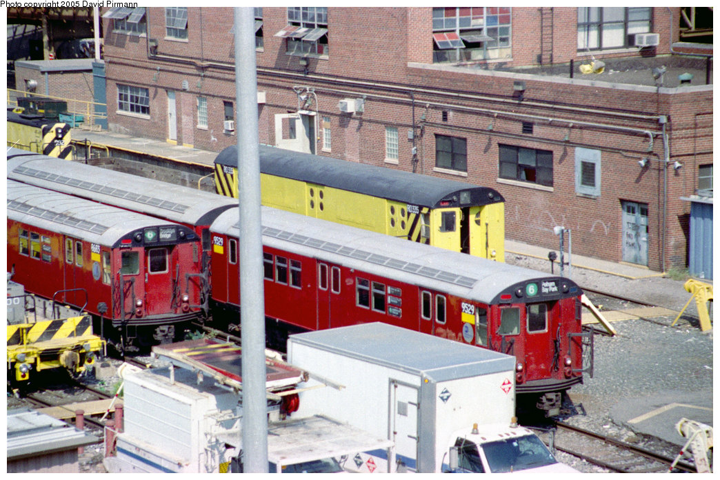 (269k, 1044x696)<br><b>Country:</b> United States<br><b>City:</b> New York<br><b>System:</b> New York City Transit<br><b>Location:</b> Westchester Yard<br><b>Car:</b> R-36 Main Line (St. Louis, 1964) 9529 <br><b>Photo by:</b> David Pirmann<br><b>Date:</b> 9/13/1998<br><b>Notes:</b> With R15 RD335.<br><b>Viewed (this week/total):</b> 2 / 3307