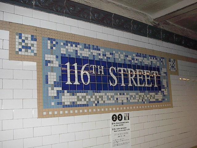 (105k, 640x480)<br><b>Country:</b> United States<br><b>City:</b> New York<br><b>System:</b> New York City Transit<br><b>Line:</b> IRT Lenox Avenue Line<br><b>Location:</b> 116th Street<br><b>Photo by:</b> Bruce Fedow<br><b>Date:</b> 1/19/2006<br><b>Viewed (this week/total):</b> 2 / 3064