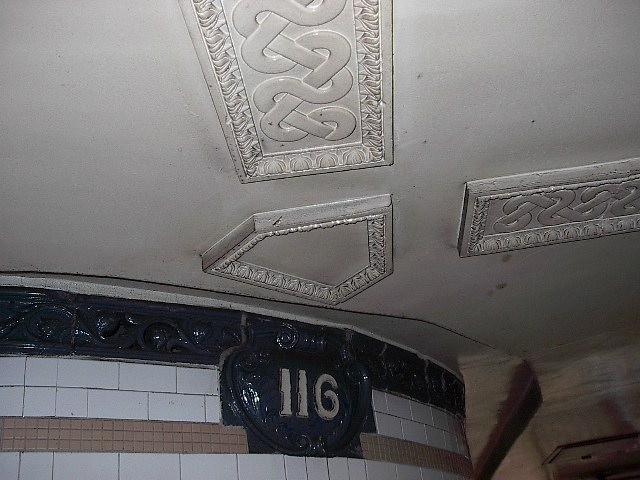 (81k, 640x480)<br><b>Country:</b> United States<br><b>City:</b> New York<br><b>System:</b> New York City Transit<br><b>Line:</b> IRT Lenox Avenue Line<br><b>Location:</b> 116th Street<br><b>Photo by:</b> Bruce Fedow<br><b>Date:</b> 1/19/2006<br><b>Viewed (this week/total):</b> 1 / 2785