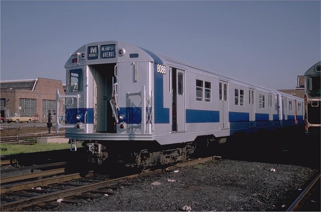(181k, 1024x676)<br><b>Country:</b> United States<br><b>City:</b> New York<br><b>System:</b> New York City Transit<br><b>Location:</b> Coney Island Yard<br><b>Car:</b> R-27 (St. Louis, 1960) 8088 <br><b>Photo by:</b> Steve Zabel<br><b>Collection of:</b> Joe Testagrose<br><b>Date:</b> 8/31/1979<br><b>Viewed (this week/total):</b> 3 / 4386