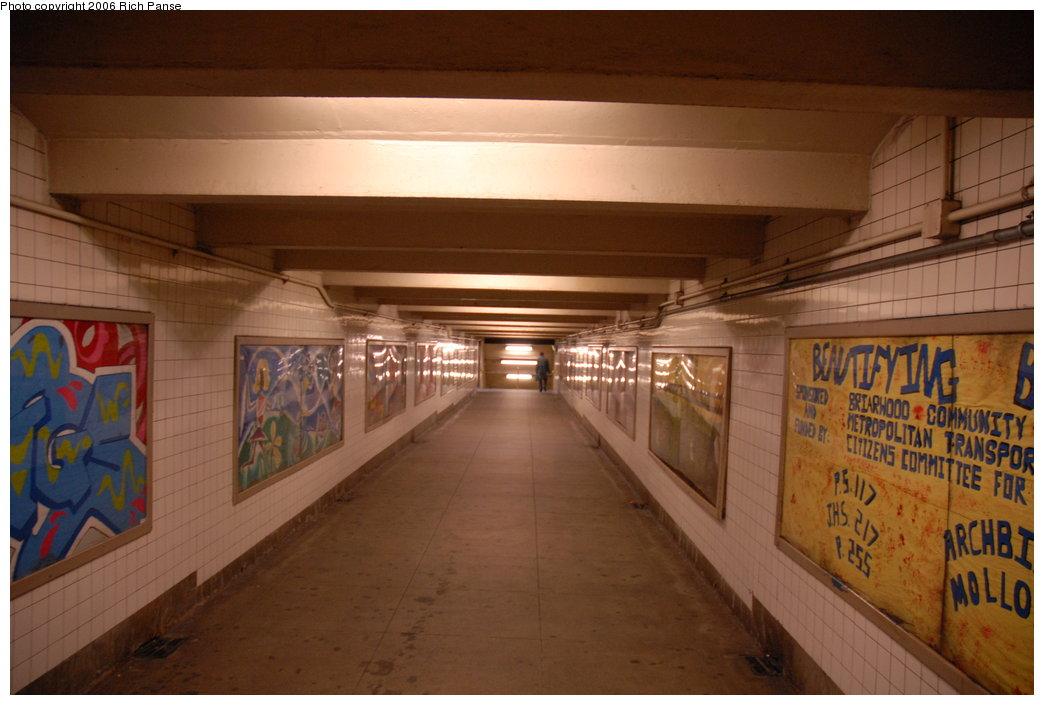 (160k, 1044x705)<br><b>Country:</b> United States<br><b>City:</b> New York<br><b>System:</b> New York City Transit<br><b>Line:</b> IND Queens Boulevard Line<br><b>Location:</b> Briarwood/Van Wyck Boulevard<br><b>Photo by:</b> Richard Panse<br><b>Date:</b> 5/25/2006<br><b>Artwork:</b> <i>Beautifying Briarwood</i>, Briarwood Students<br><b>Viewed (this week/total):</b> 2 / 4933