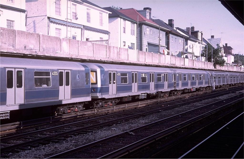 (248k, 1024x668)<br><b>Country:</b> United States<br><b>City:</b> New York<br><b>System:</b> New York City Transit<br><b>Line:</b> BMT Sea Beach Line<br><b>Location:</b> Avenue U<br><b>Route:</b> N<br><b>Car:</b> R-40M (St. Louis, 1969) 4315 (ex-4415)<br><b>Photo by:</b> Doug Grotjahn<br><b>Collection of:</b> Joe Testagrose<br><b>Date:</b> 5/17/1969<br><b>Viewed (this week/total):</b> 8 / 8025