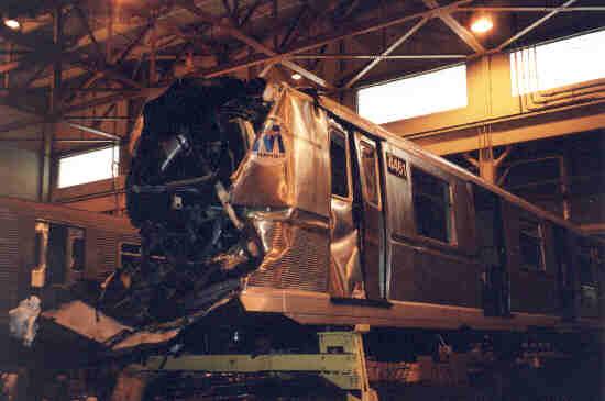(18k, 550x365)<br><b>Country:</b> United States<br><b>City:</b> New York<br><b>System:</b> New York City Transit<br><b>Location:</b> Coney Island Shop/Overhaul & Repair Shop<br><b>Car:</b> R-40M (St. Louis, 1969) 4461 <br><b>Photo by:</b> Steve Kreisler<br><b>Date:</b> 6/1995<br><b>Viewed (this week/total):</b> 4 / 19769