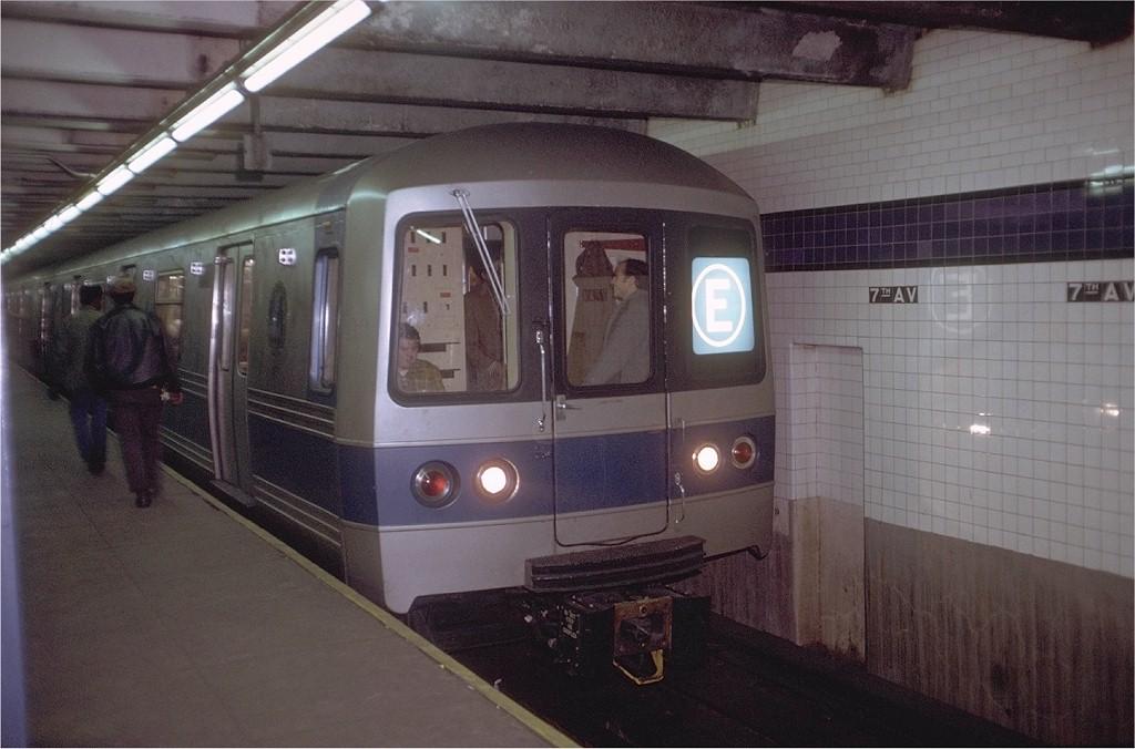 (169k, 1024x676)<br><b>Country:</b> United States<br><b>City:</b> New York<br><b>System:</b> New York City Transit<br><b>Line:</b> IND Queens Boulevard Line<br><b>Location:</b> 7th Avenue/53rd Street<br><b>Route:</b> E<br><b>Car:</b> R-44 (St. Louis, 1971-73) 112 <br><b>Photo by:</b> Doug Grotjahn<br><b>Collection of:</b> Joe Testagrose<br><b>Date:</b> 12/23/1971<br><b>Viewed (this week/total):</b> 9 / 6702