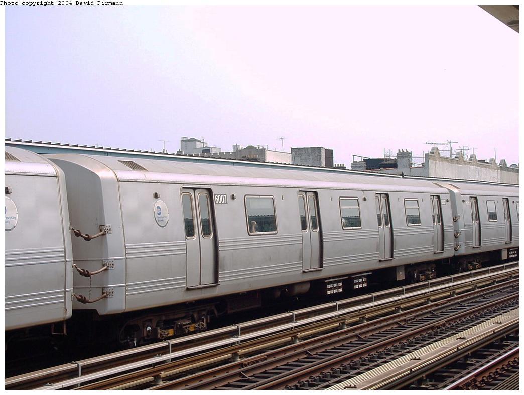 (118k, 1044x788)<br><b>Country:</b> United States<br><b>City:</b> New York<br><b>System:</b> New York City Transit<br><b>Line:</b> BMT Culver Line<br><b>Location:</b> Ditmas Avenue<br><b>Route:</b> F<br><b>Car:</b> R-46 (Pullman-Standard, 1974-75) 6007 <br><b>Photo by:</b> David Pirmann<br><b>Date:</b> 8/27/2000<br><b>Viewed (this week/total):</b> 0 / 3640