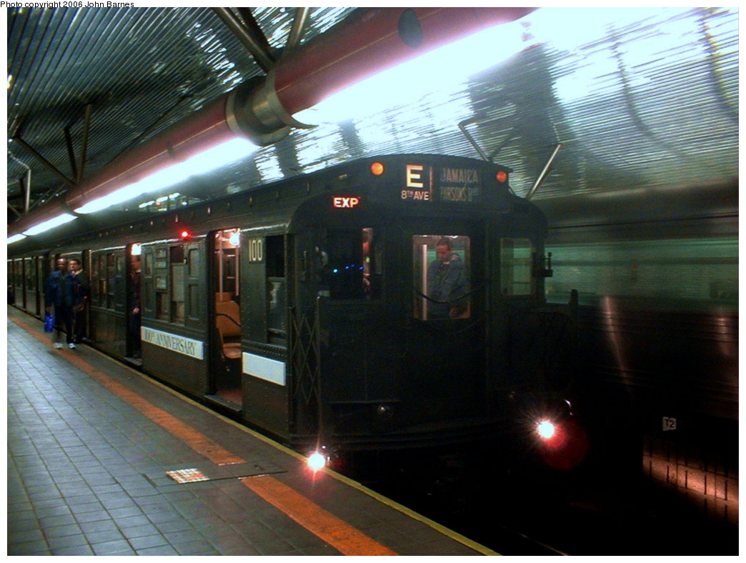 (167k, 1044x788)<br><b>Country:</b> United States<br><b>City:</b> New York<br><b>System:</b> New York City Transit<br><b>Line:</b> IND 63rd Street Line<br><b>Location:</b> Roosevelt Island<br><b>Route:</b> Fan Trip<br><b>Car:</b> R-1 (American Car & Foundry, 1930-1931) 100 <br><b>Photo by:</b> John Barnes<br><b>Date:</b> 11/9/2003<br><b>Viewed (this week/total):</b> 0 / 3657