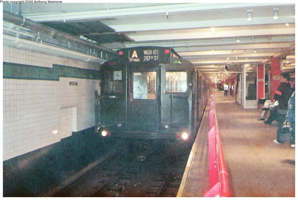 (187k, 1044x703)<br><b>Country:</b> United States<br><b>City:</b> New York<br><b>System:</b> New York City Transit<br><b>Location:</b> New York Transit Museum<br><b>Route:</b> Fan Trip<br><b>Car:</b> R-1 (American Car & Foundry, 1930-1931) 100 <br><b>Photo by:</b> Anthony Maimone<br><b>Date:</b> 6/11/2006<br><b>Notes:</b> APTA conference special heading to Coney Island.<br><b>Viewed (this week/total):</b> 3 / 4319