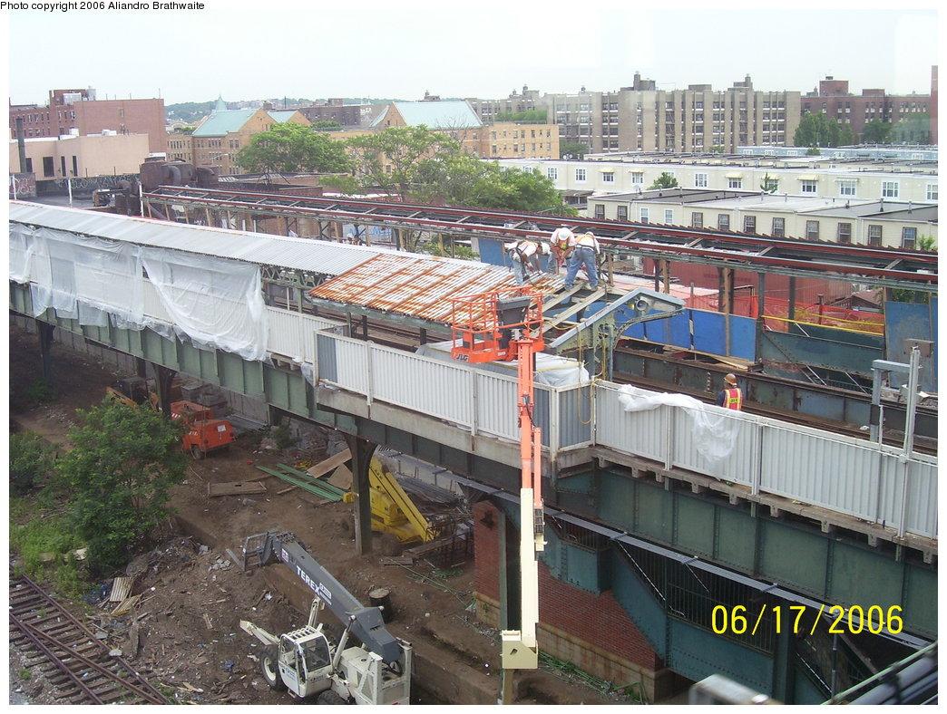 (238k, 1044x788)<br><b>Country:</b> United States<br><b>City:</b> New York<br><b>System:</b> New York City Transit<br><b>Line:</b> BMT Canarsie Line<br><b>Location:</b> Livonia Avenue<br><b>Photo by:</b> Aliandro Brathwaite<br><b>Date:</b> 6/17/2006<br><b>Notes:</b> Livonia Ave. station rehabilitation.<br><b>Viewed (this week/total):</b> 7 / 3990