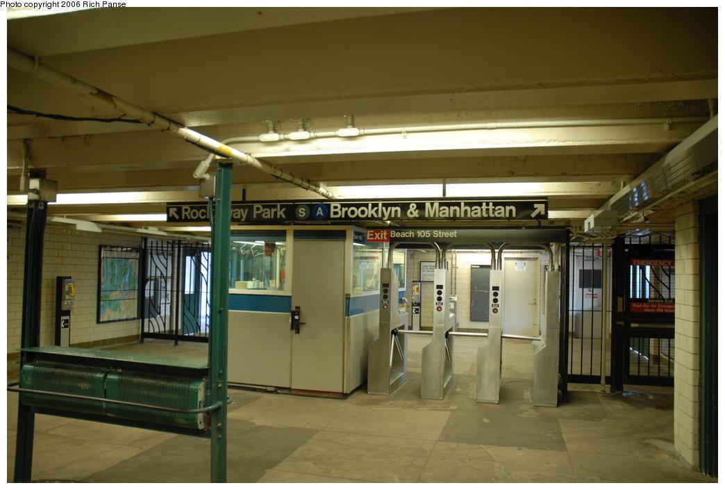 (165k, 1044x705)<br><b>Country:</b> United States<br><b>City:</b> New York<br><b>System:</b> New York City Transit<br><b>Line:</b> IND Rockaway Line<br><b>Location:</b> Beach 105th Street/Seaside<br><b>Photo by:</b> Richard Panse<br><b>Date:</b> 6/17/2006<br><b>Notes:</b> Mezzanine.<br><b>Viewed (this week/total):</b> 2 / 3369
