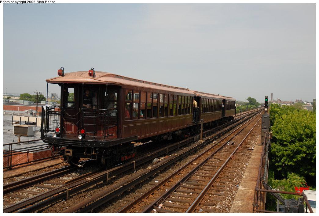 (191k, 1044x705)<br><b>Country:</b> United States<br><b>City:</b> New York<br><b>System:</b> New York City Transit<br><b>Line:</b> IND Rockaway Line<br><b>Location:</b> Beach 105th Street/Seaside<br><b>Route:</b> Fan Trip<br><b>Car:</b> BMT Elevated Gate Car 1407-1273-1404 <br><b>Photo by:</b> Richard Panse<br><b>Date:</b> 6/17/2006<br><b>Viewed (this week/total):</b> 0 / 2607