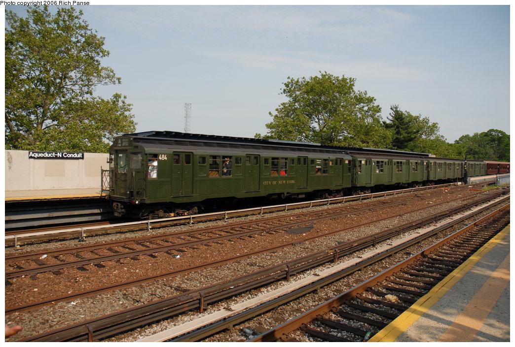 (244k, 1044x705)<br><b>Country:</b> United States<br><b>City:</b> New York<br><b>System:</b> New York City Transit<br><b>Line:</b> IND Rockaway Line<br><b>Location:</b> Aqueduct/North Conduit Avenue<br><b>Route:</b> Fan Trip<br><b>Car:</b> R-4 (American Car & Foundry, 1932-1933) 484 <br><b>Photo by:</b> Richard Panse<br><b>Date:</b> 6/17/2006<br><b>Viewed (this week/total):</b> 2 / 3420