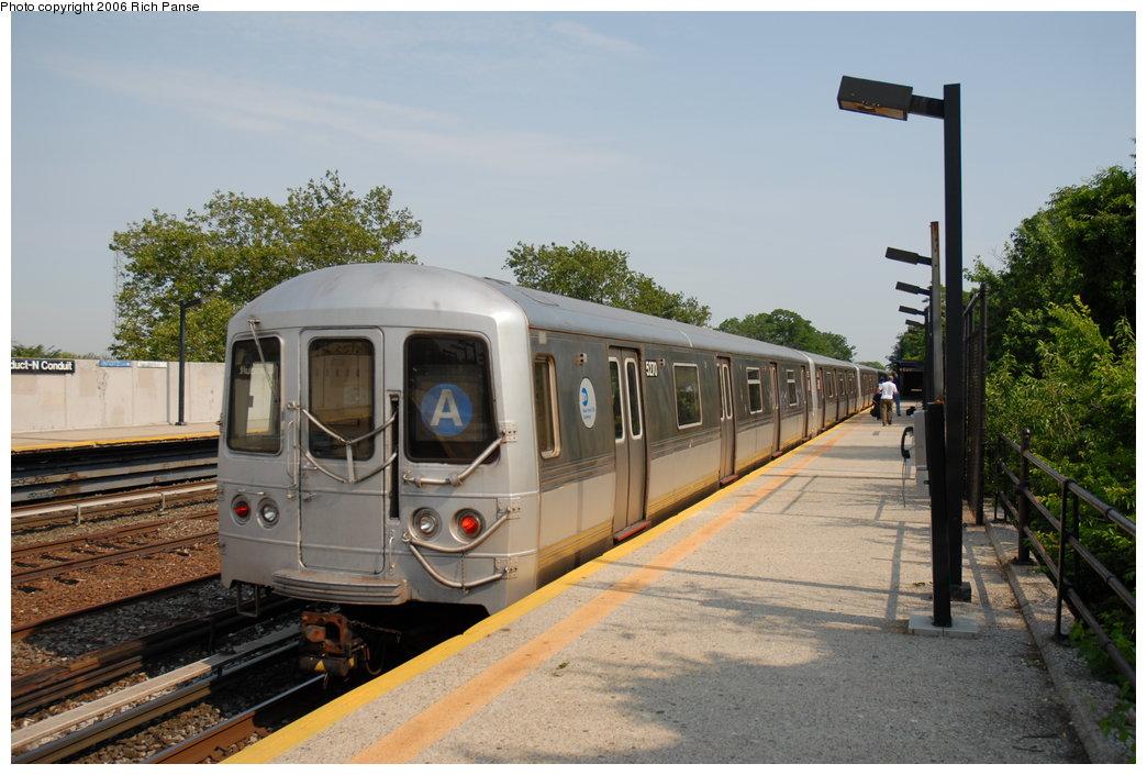 (190k, 1044x705)<br><b>Country:</b> United States<br><b>City:</b> New York<br><b>System:</b> New York City Transit<br><b>Line:</b> IND Rockaway Line<br><b>Location:</b> Aqueduct/North Conduit Avenue<br><b>Route:</b> A<br><b>Car:</b> R-44 (St. Louis, 1971-73) 5270 <br><b>Photo by:</b> Richard Panse<br><b>Date:</b> 6/17/2006<br><b>Viewed (this week/total):</b> 6 / 3394