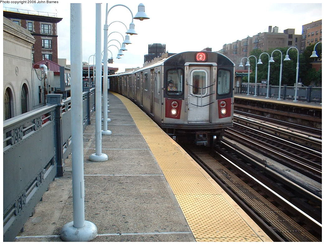 (221k, 1044x788)<br><b>Country:</b> United States<br><b>City:</b> New York<br><b>System:</b> New York City Transit<br><b>Line:</b> IRT White Plains Road Line<br><b>Location:</b> 174th Street<br><b>Route:</b> 2<br><b>Car:</b> R-142 (Primary Order, Bombardier, 1999-2002) 6305 <br><b>Photo by:</b> John Barnes<br><b>Date:</b> 7/23/2006<br><b>Viewed (this week/total):</b> 0 / 4027