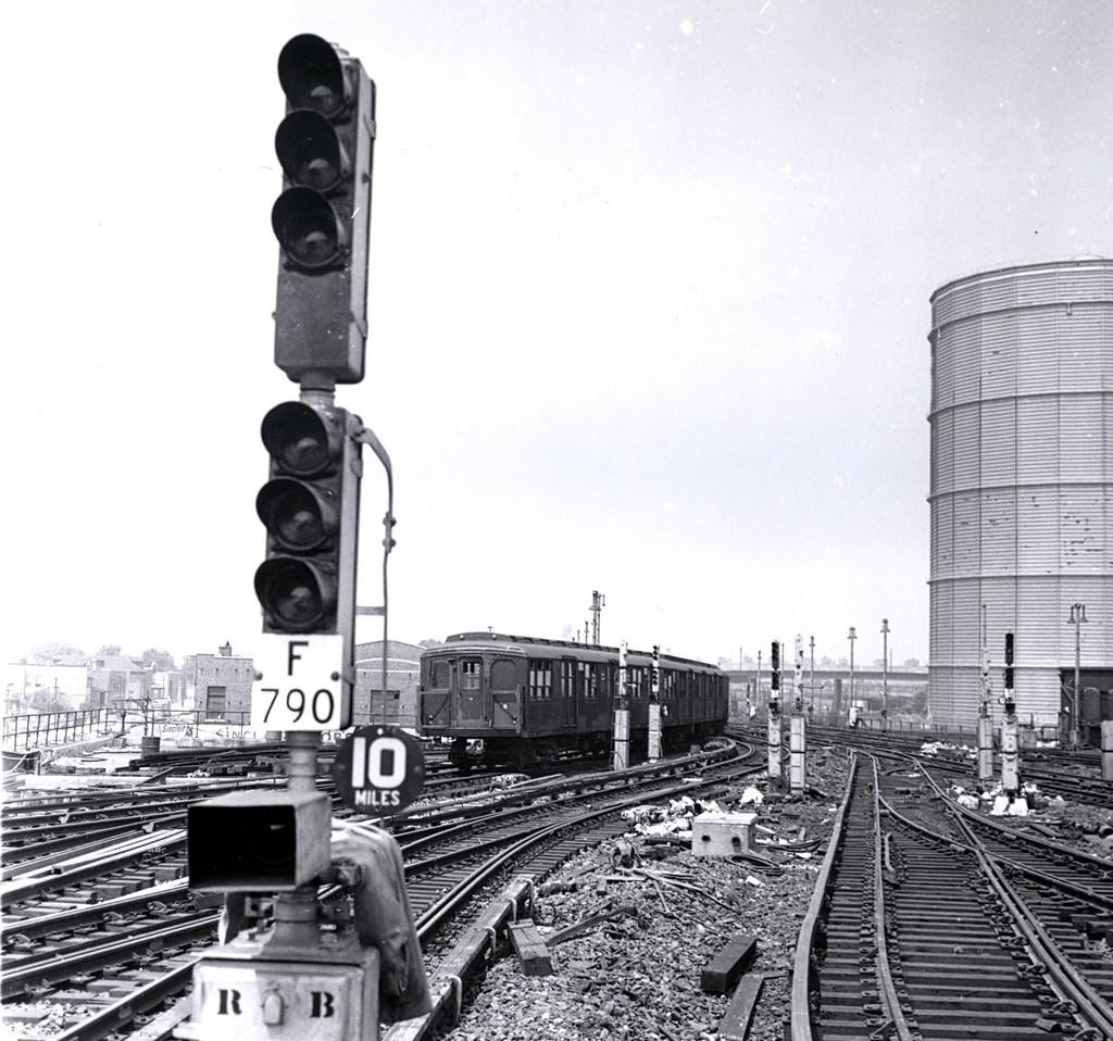 (223k, 1024x958)<br><b>Country:</b> United States<br><b>City:</b> New York<br><b>System:</b> New York City Transit<br><b>Location:</b> Coney Island/Stillwell Avenue<br><b>Car:</b> BMT A/B-Type Standard  <br><b>Collection of:</b> George Conrad Collection<br><b>Date:</b> 7/22/1961<br><b>Viewed (this week/total):</b> 4 / 3254