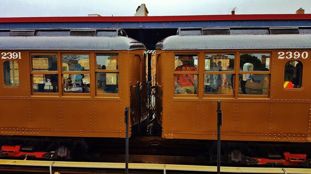 (284k, 1024x574)<br><b>Country:</b> United States<br><b>City:</b> New York<br><b>System:</b> New York City Transit<br><b>Line:</b> BMT Brighton Line<br><b>Location:</b> Brighton Beach<br><b>Route:</b> Museum Train Service<br><b>Car:</b> BMT A/B-Type Standard 2391 <br><b>Photo by:</b> John Dooley<br><b>Date:</b> 6/27/2015<br><b>Viewed (this week/total):</b> 2 / 1572