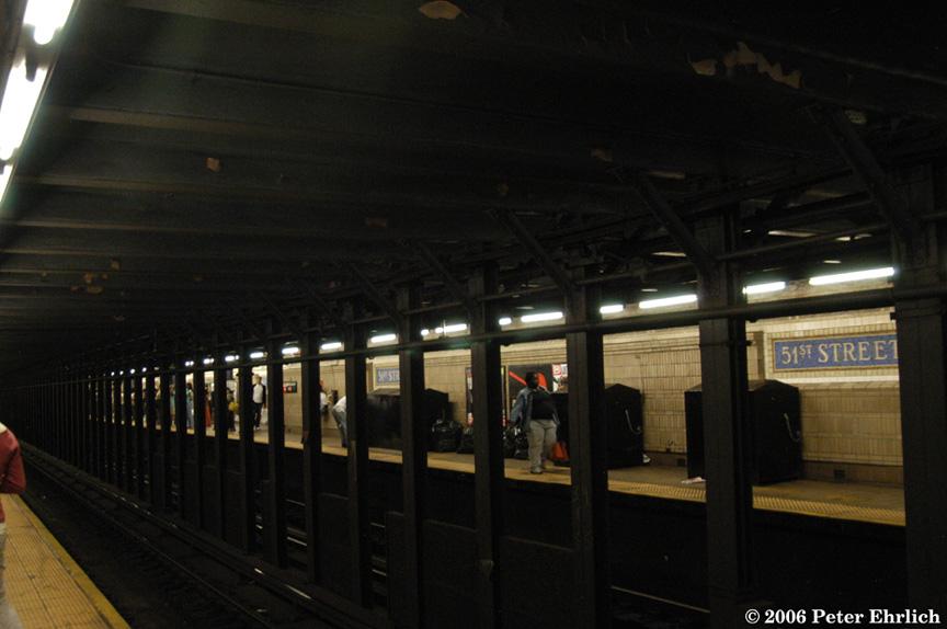 (151k, 864x574)<br><b>Country:</b> United States<br><b>City:</b> New York<br><b>System:</b> New York City Transit<br><b>Line:</b> IRT East Side Line<br><b>Location:</b> 51st Street<br><b>Photo by:</b> Peter Ehrlich<br><b>Date:</b> 9/20/2006<br><b>Viewed (this week/total):</b> 0 / 2479