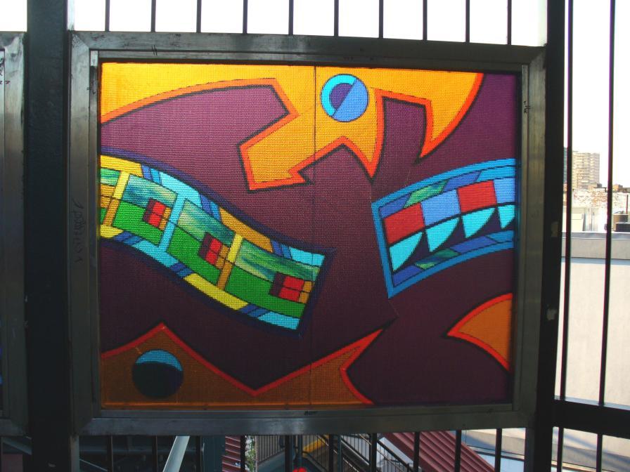 (111k, 896x672)<br><b>Country:</b> United States<br><b>City:</b> New York<br><b>System:</b> New York City Transit<br><b>Line:</b> BMT Nassau Street-Jamaica Line<br><b>Location:</b> Flushing Avenue<br><b>Photo by:</b> Robbie Rosenfeld<br><b>Date:</b> 10/10/2006<br><b>Artwork:</b> <i>Migrations</i>, Robin Holder, 2006<br><b>Viewed (this week/total):</b> 2 / 2395
